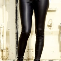 Triple Zip Leather Pants