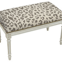 Otillie Bench, Gray Leopard, Entryway Bench