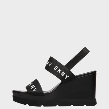 Cati Logo Wedge Sandal - Heels - Shoes - DKNY - Donna Karan