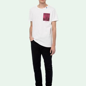 HCXX 19July 461 OFF WHITE Incompiuton Cotton Causal Short Sleeve T-Shirts