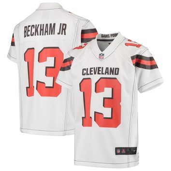 Youth Cleveland Browns Odell Beckham Jr Nike White Game Jersey