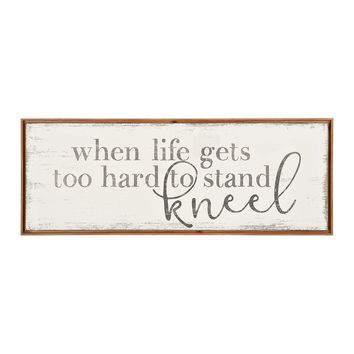 Kneel Wood Framed Canvas Art Print | Kirklands