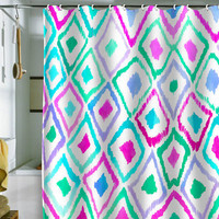 DENY Designs Home Accessories | Amy Sia Watercolor Ikat 2 Shower Curtain