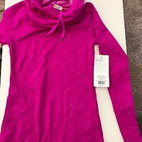 NWT lucy Pink Heather Dance Workout Pullover XS