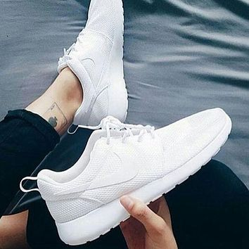 shosouvenir NIKE Women Men Running Roshe Sport Casual Shoes Sneakers White-black hook