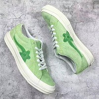 Original 2018 New One Star x Golf Le Fleur TTC Solar Yellow Sneaker Trainers Shoes Casual Shoes Light Shoes With Box