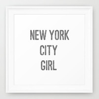Typography Print - Canvas Art - New York City Girl - New York City Decor - Typography - Teen Room Decor - Girls Room Decor -Typography Print
