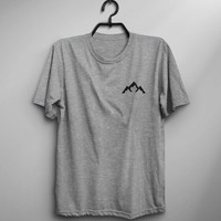 Mountain tshirt outdoors shirt gift womens graphic tee men adventure pocket tshirts tumblr gift for her