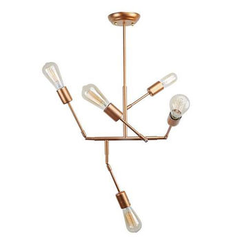 LNC 5-light Globe Pendant Lighting, Modern Chandeliers with Gold Finish