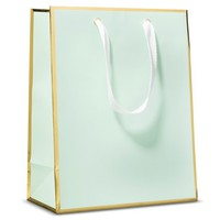 Sugar Paper Mint and Gold Gift Bag