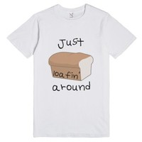 Just Loafin' Around-Unisex White T-Shirt