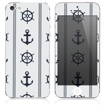 Captains Ship Print Skin for the iPhone 3gs, 4/4s, 5, 5s or 5c
