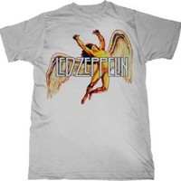 "New Led Zeppelin ""Colorful Swan Song"" Classic Rock Adult T-Shirt"