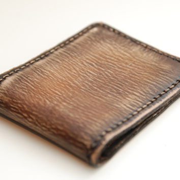 Hand Made Mens Wallet The Eastwood - Vintage Brown Cowboy Rustic Leather Mens Bifold Wallet