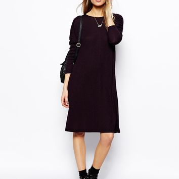 ASOS T-shirt Dress In Nepi With Long Sleeves