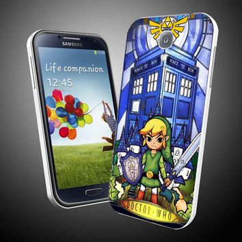The legends of zelda protec tardis in stained glass iPhone 4 / 4S / 5 Case Samsung Galaxy S3 / S4 Case