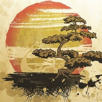 bonsai tree VINTAGE NATURE POSTER japanese topiary MODERN ART 24X36 rare new