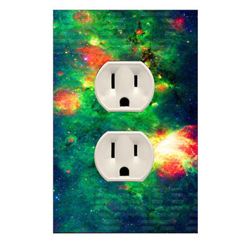 Wall Plug Cover Decal Outlet Galaxy Wall Art Outer Space OU22