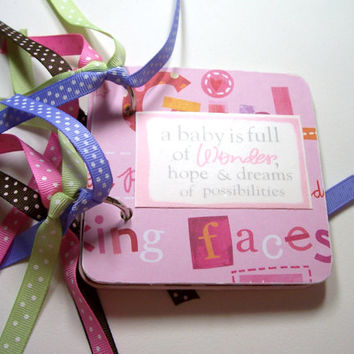 Baby Girl Giftcard Holder, Giftcard Holder, Baby Girl, New Baby Girl, Mini giftcard holder, giftcard Book