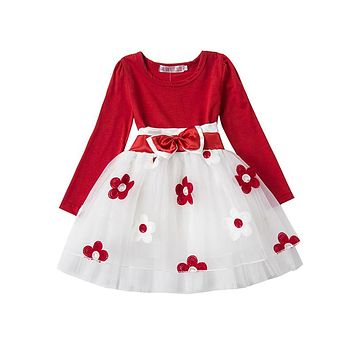 Autumn Winter Baby Girl Boutique Clothing Flower Toddler Girls R 915b2104eed6