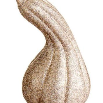 VOND4H 7' Autumn Harvest Gold Glitter Embellished Gourd Thanksgiving Fall Decoration