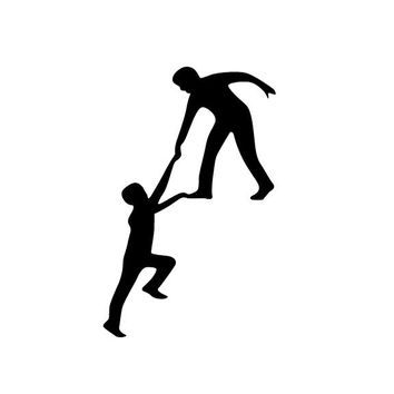 Climbing Funny Helping Hands Wall stickers