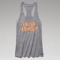 Under Armour Charged Cotton Wordmark Tank for Women 1258865-090