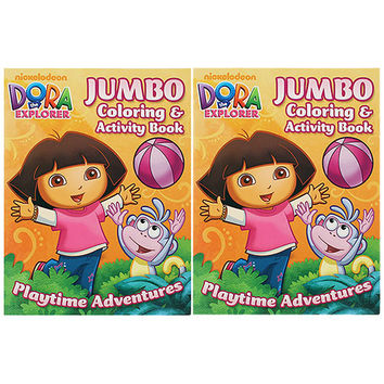 Dora the Explorer Jumbo Coloring and Activity Book [Set of 2]