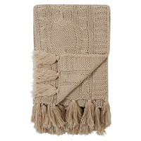 George Home Natural Chunky Knit Throw | Home & Garden | George at ASDA