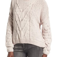 Woven Heart Cable Knit Sweater | Nordstrom