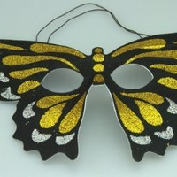 Fun & Cute Butterfly Theme Masquerade Party Mask S5441GD by Kayso International Inc