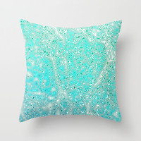 Ocean Whirl Throw Pillow by Monika Strigel | Society6