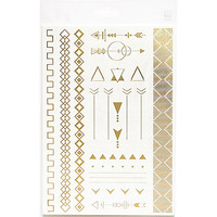 River Island Womens Gold arrow bracelet temporary tattoos