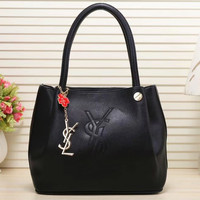 shosouvenir  YSL Women Shopping Bag Leather Satchel Handbag Shoulder Bag