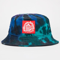 Milkcrate Athletics Tie Dye Mens Bucket Hat Purple One Size For Men 23108175001