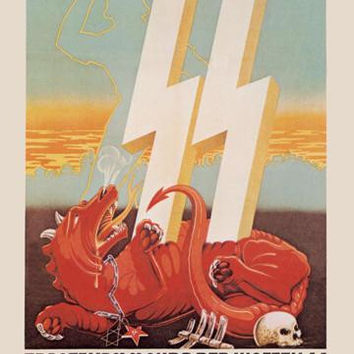 Waffen SS Recruitment 20x30 poster