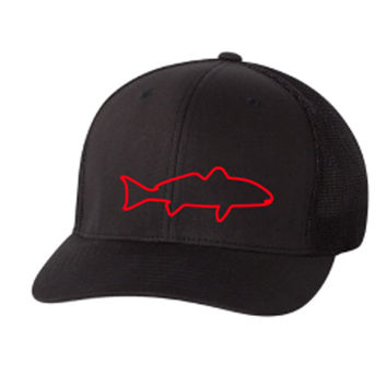 Red Fish Flex Fit Hat