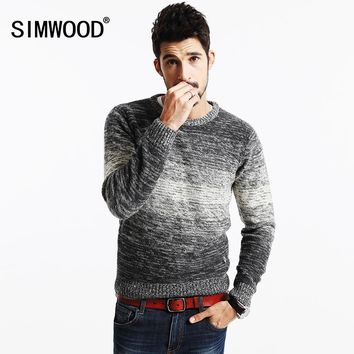 SIMWOOD 2017 New Autumn Winter Striped Sweater  Men   Vintage  Wool Pullovers O neck Slim fit Knitwear MY2063