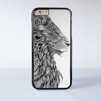 "Lion plastic phone case for iPhone 6 (4.7"")  More case style can be selected"