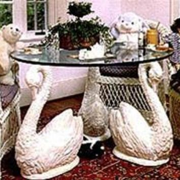Long Neck Swan Set of 4 Dining Table Base 29H