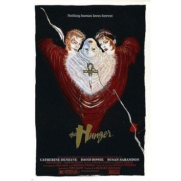 DAVID BOWIE SUSAN SARANDON the hunger movie poster 1983 BRITISH HORROR 24X36