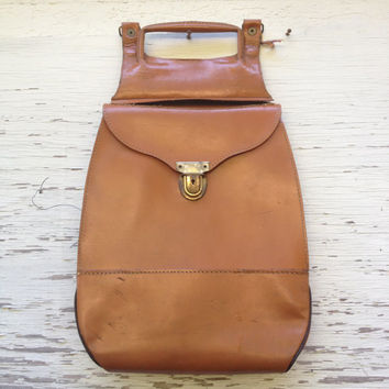 Vintage Leather Bag/Straddle Bag/Swiss Made/Plaid/Upcycled Purse/Saddle Bag/Ammunition Bag/Boho/Equestrian