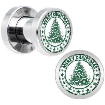 4 Gauge Merry Christmas Tree Screw Fit Plug Set