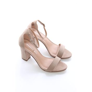 Blush Ankle Strap Heel - Madden Girl
