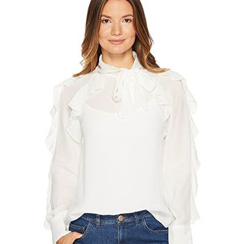 See by Chloe Silk Neck Tie Blouse