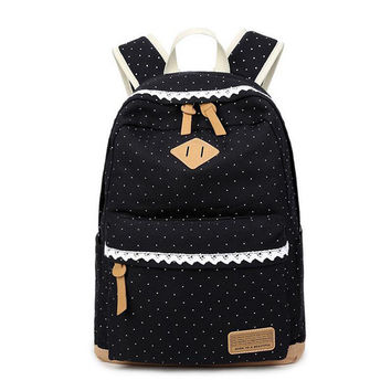 New Korean Canvas Printing Backpack Women School Bags for Teenage Girls Cute Bookbags Vintage Laptop Backpacks Female