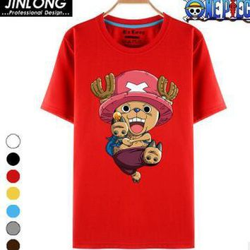 One Piece T Shirt Luffy Straw Hat Japanese Anime T Shirts O-neck Black T-shirt