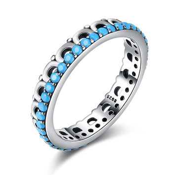 STYLEDOME sterling silver turquoise simple sterling silver ring