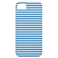 Dazzling Blue And White Stripes iPhone 5 Cases