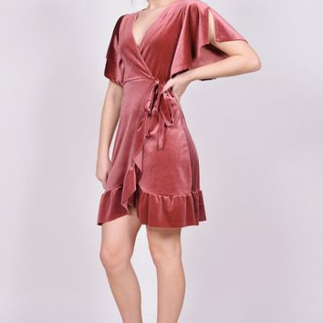 Courtney Velvet Wrap Dress